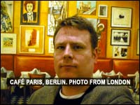 Cafe Paris in Berlin, photo from London